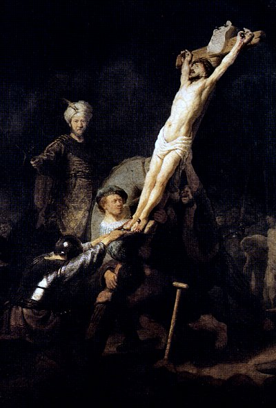 Elevation of the Cross, by Rembrandt